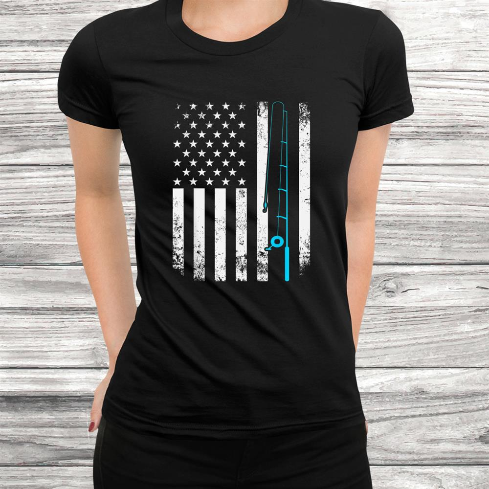 American Pride Fisherman Hook Fish Gift Idea Fishing Shirt