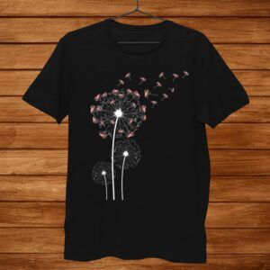 Animal Lover Gift Bird Dandelion Flamingo Shirt