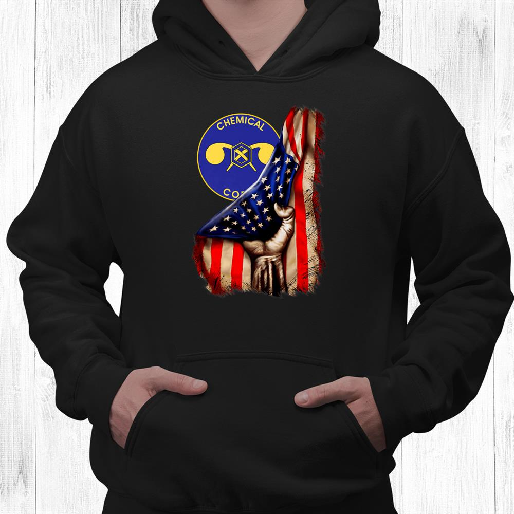 Army Chemical Corps Branch American Flag Shirt