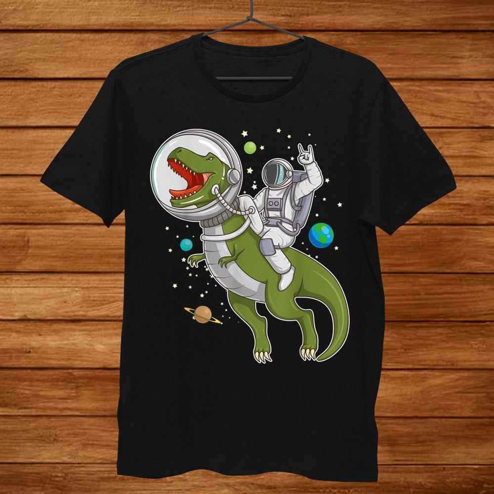 Astronaut Riding T Rex Dinosaur Astro T Rex Space Shirt