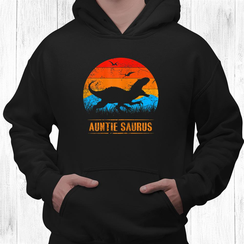 Auntie Saurus Funny Dinosaur Matching Family Vintage Shirt
