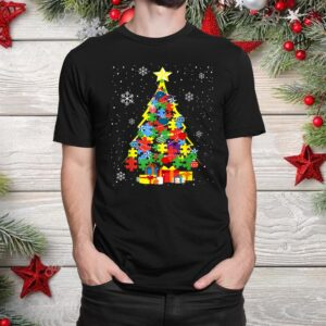 Autism Christmas Tree For A Proud Autistic Person Shirt