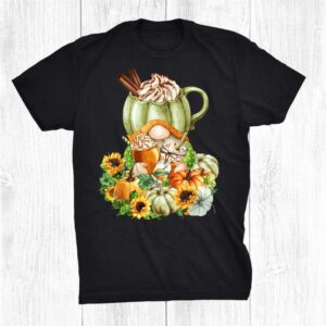 Autumn Sunflower Gnome For Thanksgiving With Pumpkin Spice Shirt