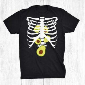 Avocado Skeleton Rib Cage X Ray Spooky Halloween Costume Shirt