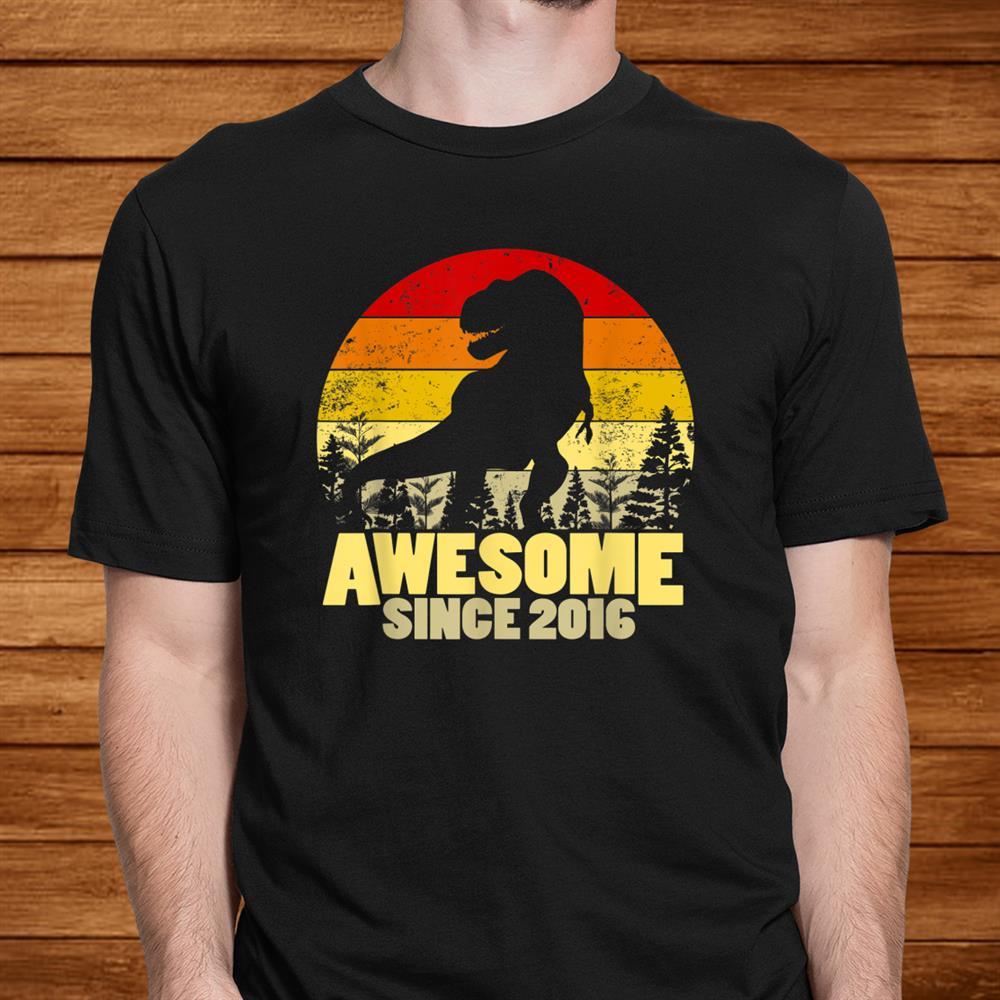 Awesome Since016 Dinosaur Shirtrd Birthday Years Old Shirt