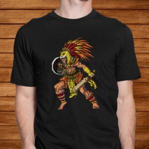 aztec jaguar warrior native mexican t shirt Men 2