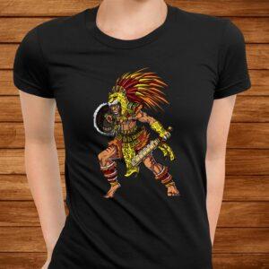 aztec jaguar warrior native mexican t shirt Men 3