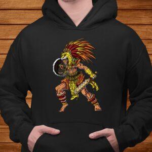 aztec jaguar warrior native mexican t shirt Men 4
