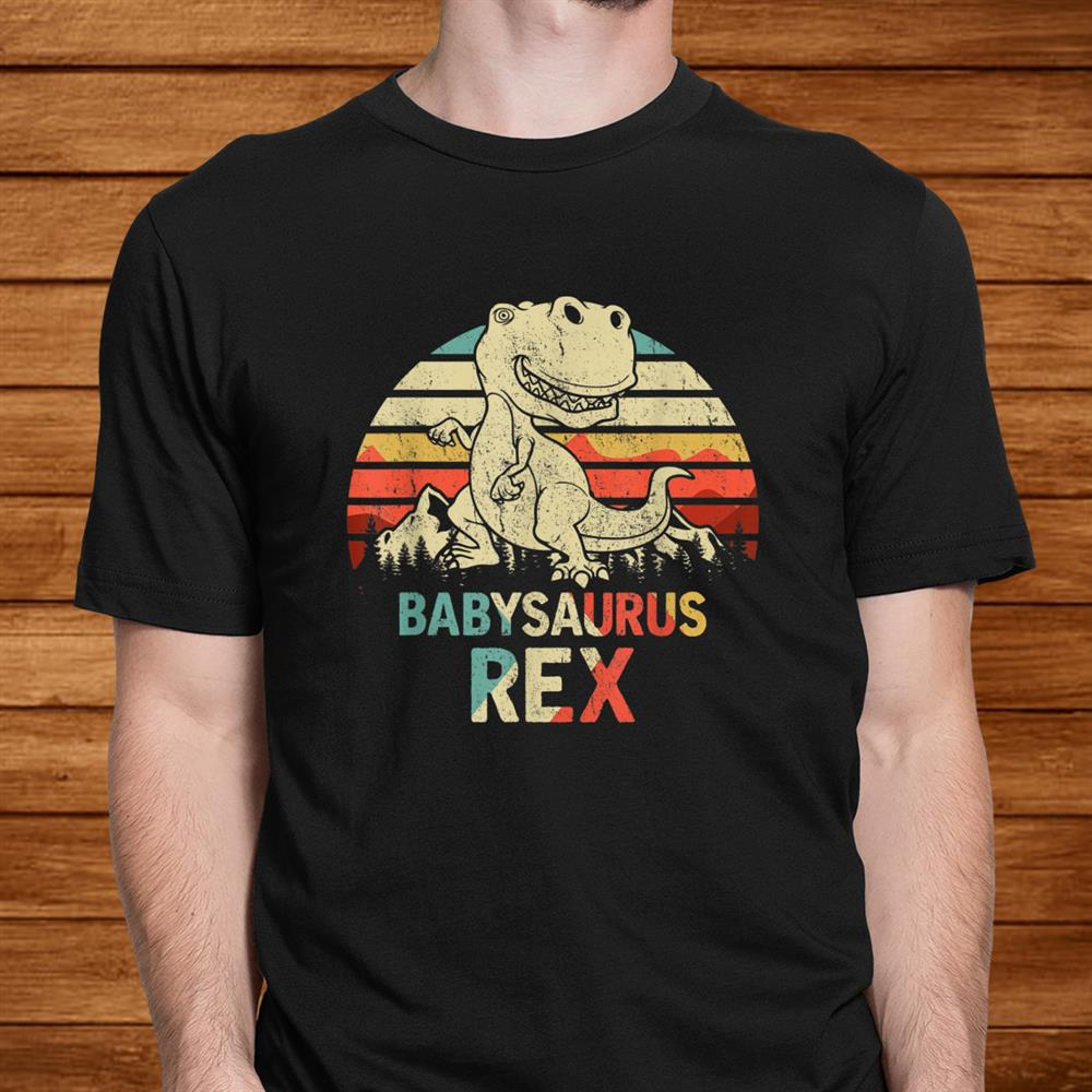 Babysaurus Rex Shirt Dinosaur Men