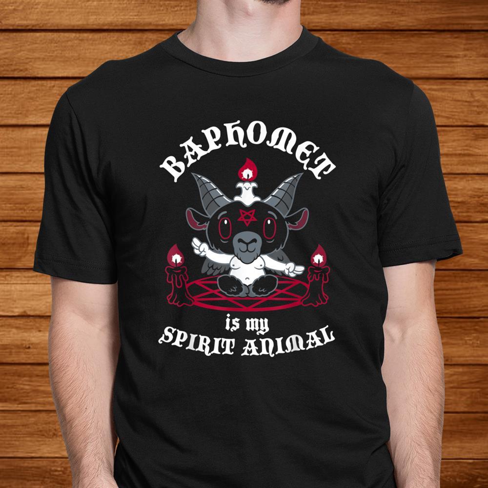 Baphomet Is My Spirit Animal Cute Satanic Goat Occult Shirt