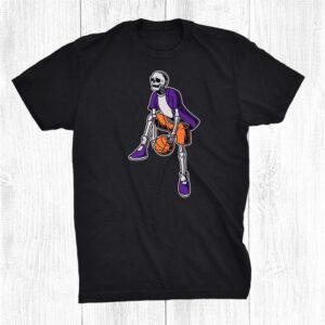 Basketball Skeleton Halloween Basketball Player Halloween Shirt