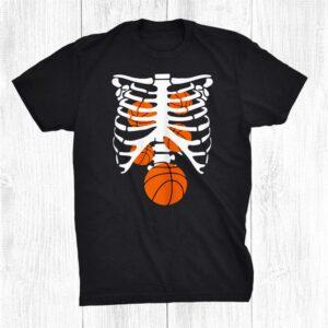 Basketball Skeleton Rib Cage X Ray Spooky Halloween Costume Shirt