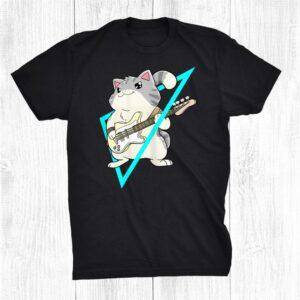 Bass Cat Rock Kitty On A Bass Guitar Cat Lover Shirt