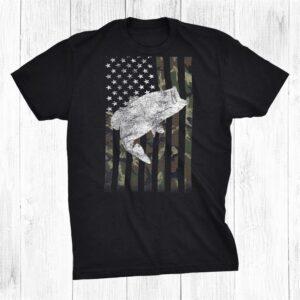 Bass Fishing American Camo Usa Flag For Fisherman Shirt