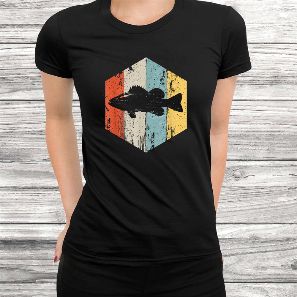 Bass Fishing Vintage Retro Style Gift For Fishermen Shirt