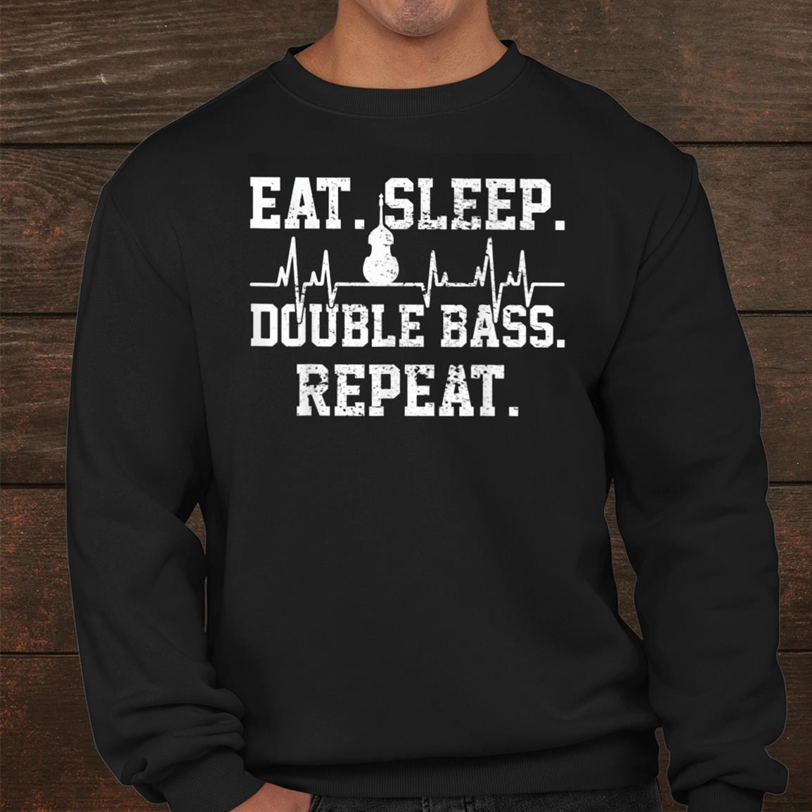 Bass Guitar Player Vintage Heartbeat Shirt