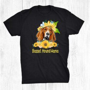 Basset Hound Mama Sunflower Basset Hound Lover Shirt