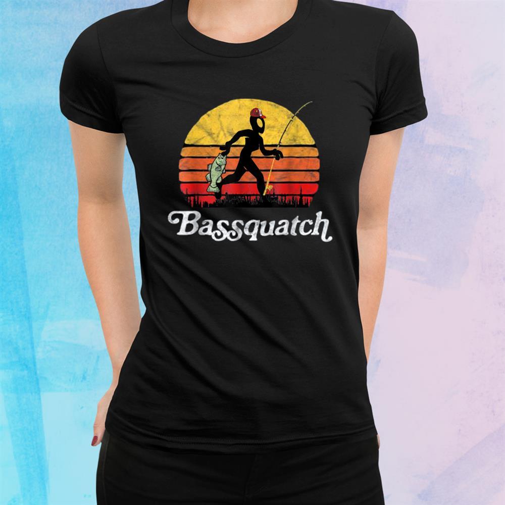 Bassquatch Funny Alien Fishing Outdoor Shirt