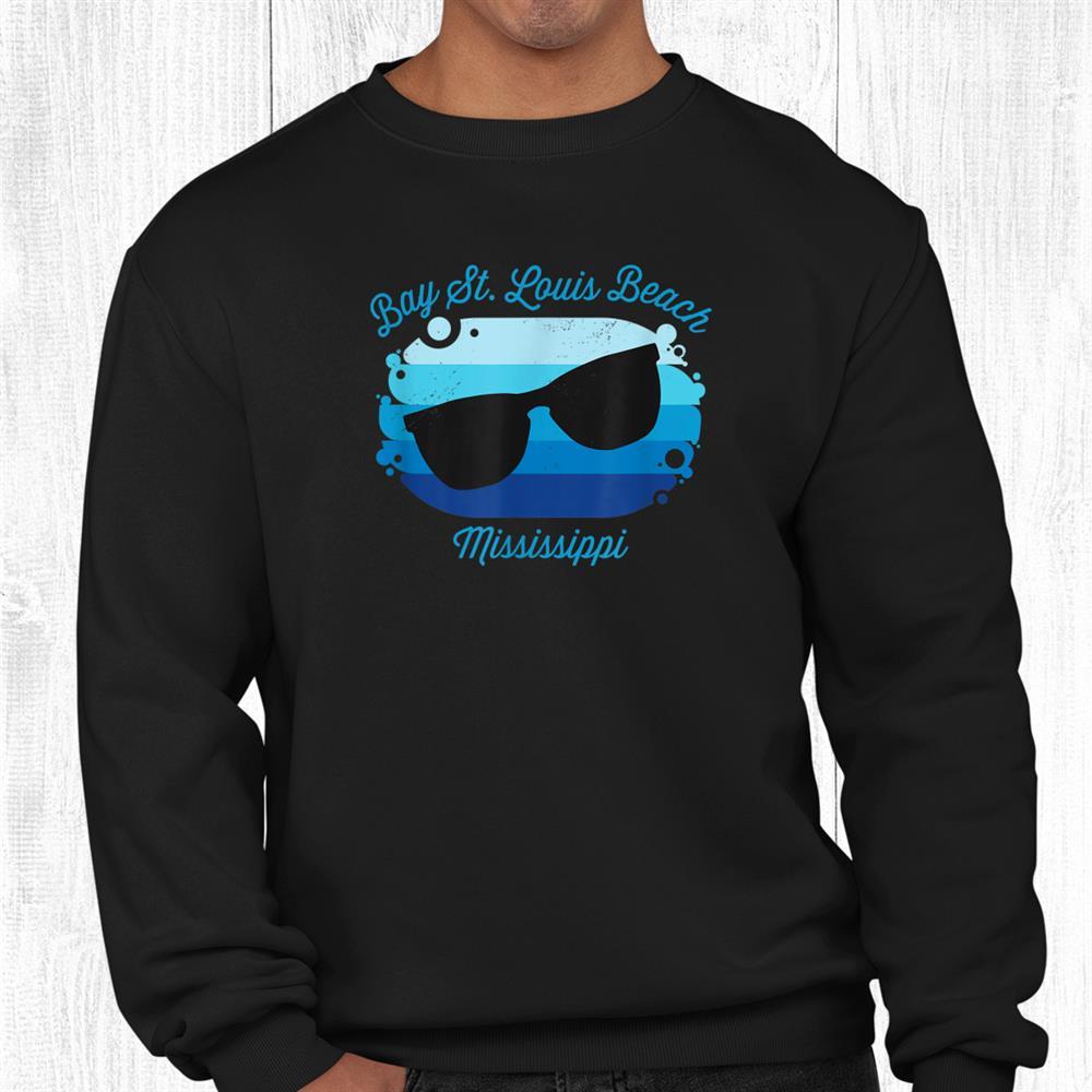 Bay St Louis Beach Ms Mississippi Souvenir Nautical Surfer Shirt