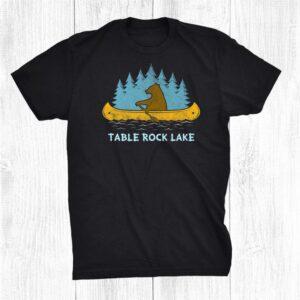 Bear Lake Lake Bear Canoe Outdoor Hiking Camping Retro Shirt