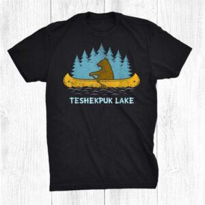 Becharof Lake Lake Bear Canoe Outdoor Hiking Camping Retro Shirt