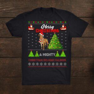Belgian Malinois Dog Light Mighty Christmas Tree Xmas Shirt