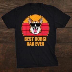 Best Corgi Dad Ever Shirt Dog Vintage Shirt