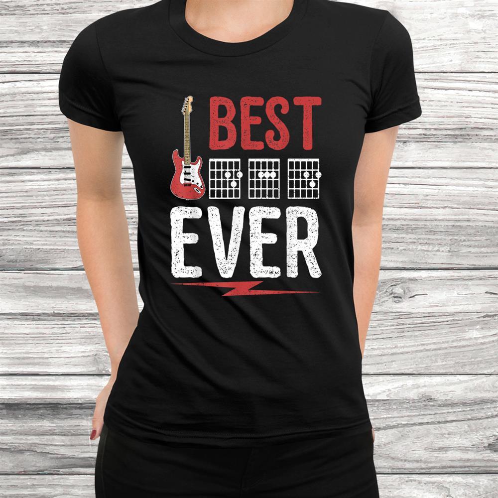 Best Dad Ever Guitar Shirt