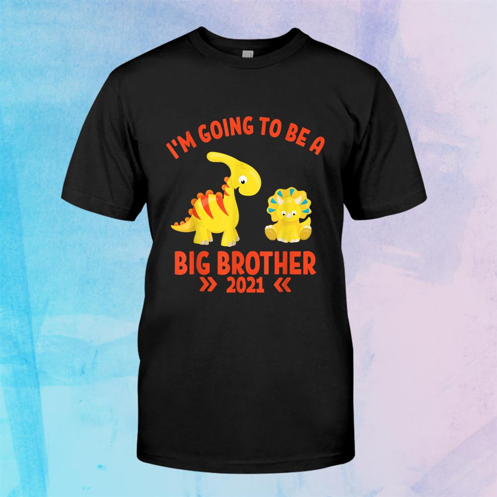 Big Brother021 Im Going To Be A Big Brother Dinosaurs Shirt