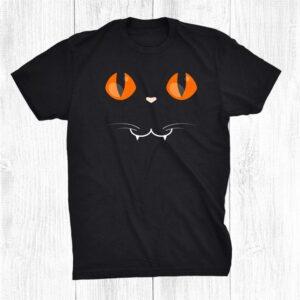Black Cat Face Vampire Halloween Costume Shirt
