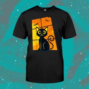 Black Cat Halloween Cute Cat Shirt