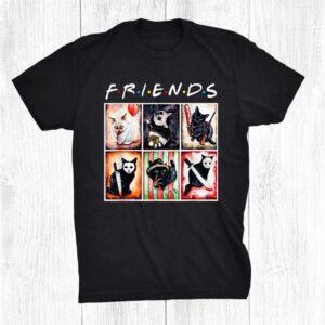 Black Cat Horror Friends Halloween Shirt