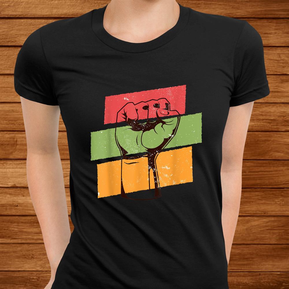 Black History Month L Black Pride Fist African Colors Shirt