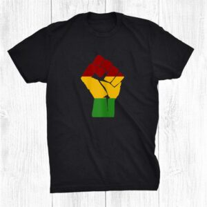 Black Lives Matter Blm Roots Reggae Fist Rasta Colours Shirt