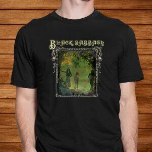 black sabbath official trees photo framed t shirt Men 2