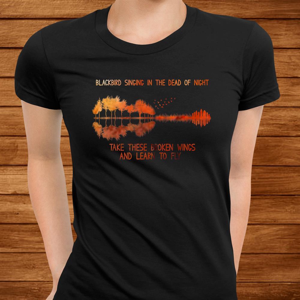 Blackbirds Singing In The Dead Of Night Hippie Shirt