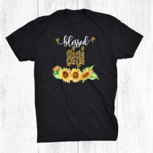 Blessed Gigi Leopard Sunflowers Halloween Fall Shirt