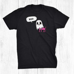 Boo Spooky Dog Cute Halloween Autumn Funny Wiccan Shirt