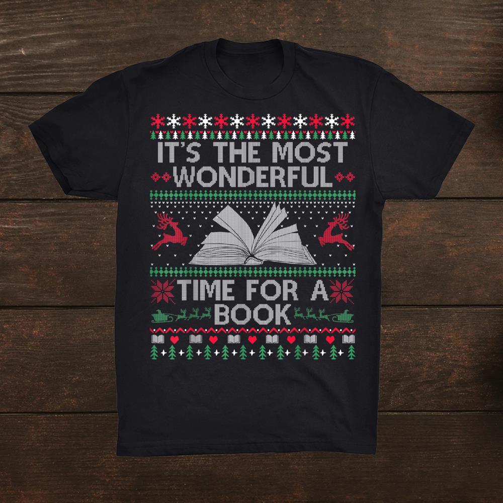 Books Reading Librarian Teacher Book Lovers Ugly Christmas Shirt