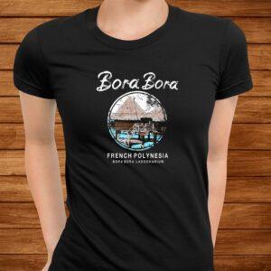 bora bora bungalow french polynesia vintage t shirt Men 3