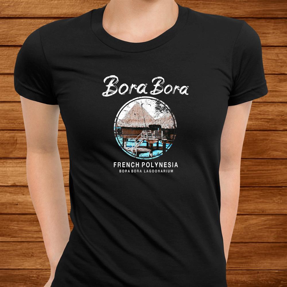 Bora Bora Bungalow French Polynesia Vintage Shirt