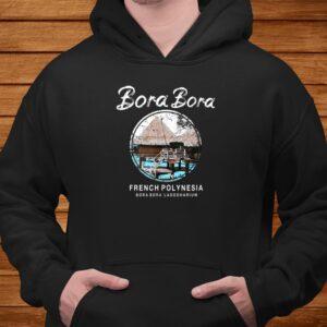 bora bora bungalow french polynesia vintage t shirt Men 4
