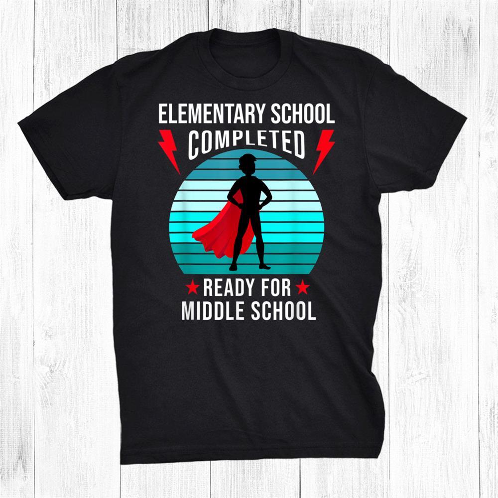 Boy Elementary School Graduation021 Ready For Junior High Shirt