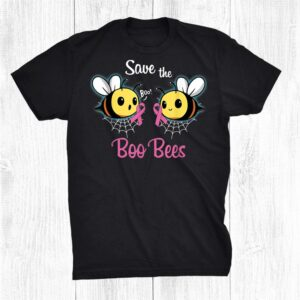 Breast Cancer Awareness Save The Boo Bees Halloween Shirt