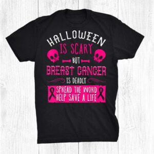 Breast Cancer Halloween Party Survivor Pink Skull Patient Shirt