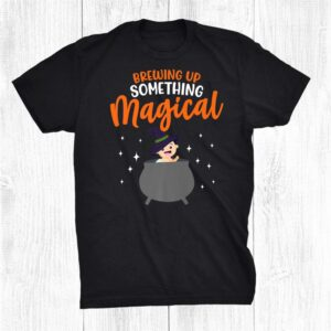 Brewing Up Something Magical Witch Pregnancy Announcement Shirt
