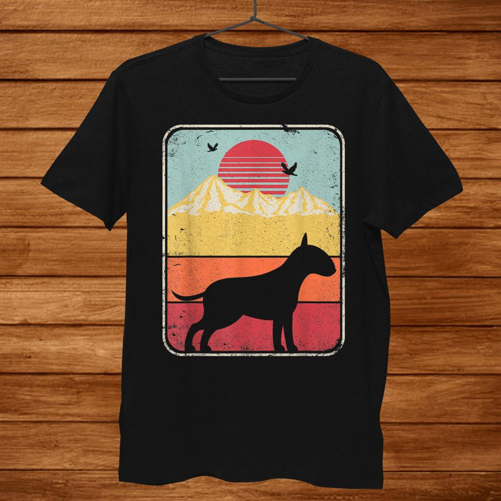 Bull Terrier Shirt. Retro Style Shirt