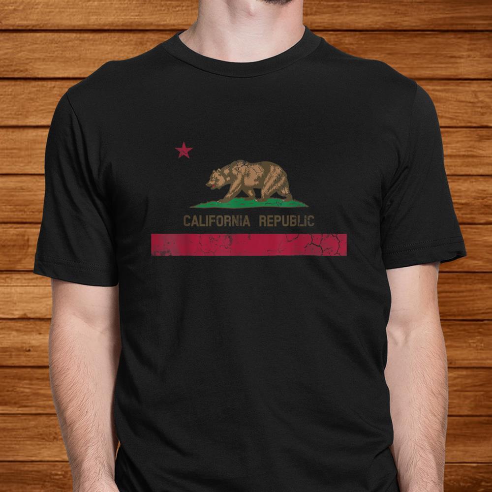 California Republic Flag State Vintage Fade Shirt
