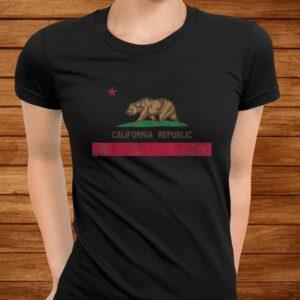california republic flag state vintage fade t shirt Men 3