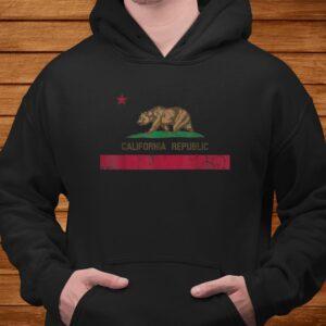 california republic flag state vintage fade t shirt Men 4